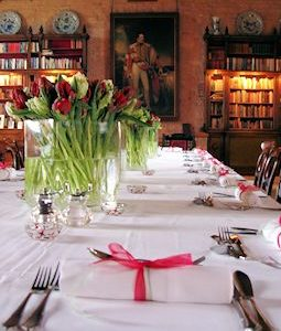Table setting in the Great Hall